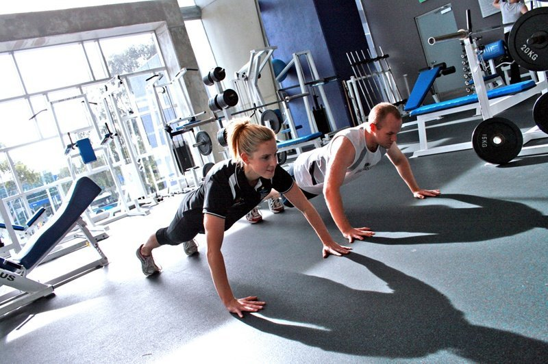 Personal Training at a Gym- Push ups